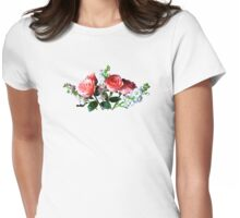 Pink Roses and Snapdragons Womens Fitted T-Shirt