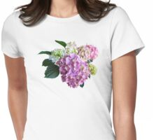 Pastel Hydrangea Womens Fitted T-Shirt