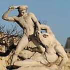 Theseus fighting the Minotaur, Paris by chord0