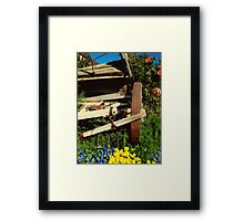 Beauty With The Beast Framed Print