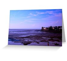 Blue hour on the  UK Beach.. Greeting Card