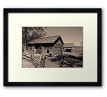 Corn Crib II Framed Print