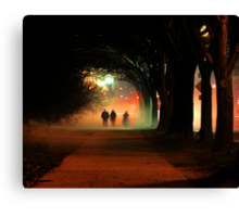 Night Fog in the City Canvas Print