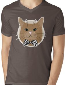 Kitty  Mens V-Neck T-Shirt