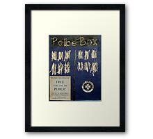 Tardis by Kevin Drips Framed Print