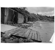 Sandon Point Boat Sheds, NSW Poster