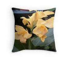 abstract of Calla Lily Throw Pillow
