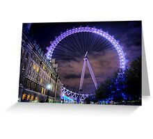 London Eye Hdr Greeting Card