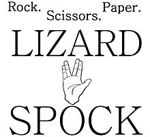 ROCK PAPER SCISSORS LIZARD 2 Photographic Print