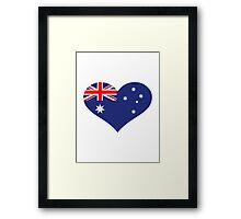 Australia flag heart Framed Print
