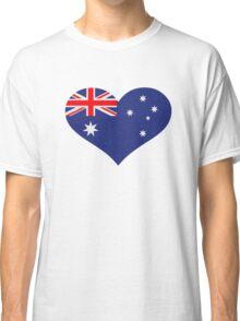 Australia flag heart Classic T-Shirt