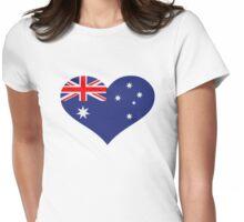 Australia flag heart Womens Fitted T-Shirt