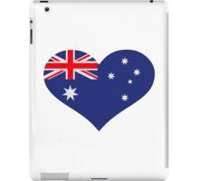 Australia flag heart iPad Case/Skin
