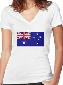 Australia flag Women's Fitted V-Neck T-Shirt