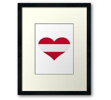 Austria flag heart Framed Print