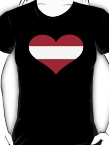 Austria flag heart T-Shirt