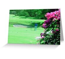 Golfing Hawaiian Greeting Card