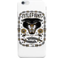 Title Fight - Panther iPhone Case/Skin