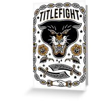 Title Fight - Panther Greeting Card