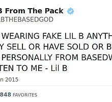 Lil B Tweet - Don't Buy This by katiewrenchir
