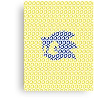 Sonic and Rings Design (White Background) Canvas Print