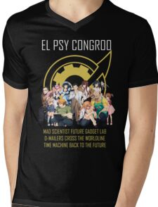 Steins;Gate Psy Congroo Mens V-Neck T-Shirt