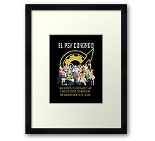 Steins;Gate Psy Congroo Framed Print