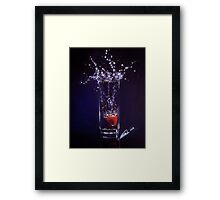 Splashing warter reflection Framed Print