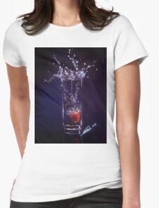 Splashing warter reflection Womens Fitted T-Shirt