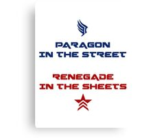 Paragon in the street, Renegade in the sheet Canvas Print