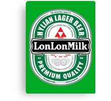 Lon Lon Milk Lager Canvas Print