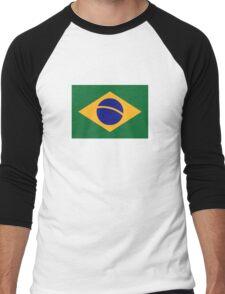 Brazil flag Men's Baseball ¾ T-Shirt