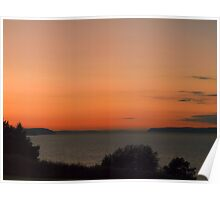 The Glow Of A Puget Sound Sunset Poster