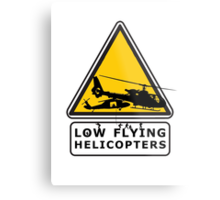 Low Flying Helicopters (2) Metal Print