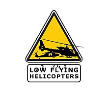 Low Flying Helicopters (2) Photographic Print