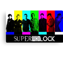 SuperWhoLock TV Color Screen Canvas Print