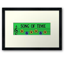 Song of Time- The Legend of Zelda Ocarina of Time Framed Print