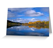 Fall Time on the Snake River/Oxbow Bend GTNP Greeting Card