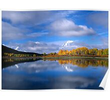 Fall Time on the Snake River/Oxbow Bend GTNP Poster