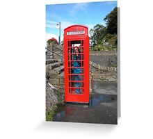 An American Lost in England. Greeting Card