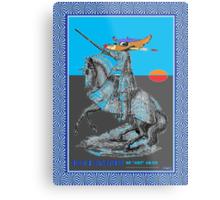 BLU KNITE of Artserous Metal Print