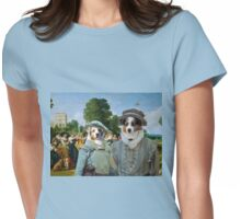 Australian Shepherd Art -  The Lunch in Palace Garden Womens Fitted T-Shirt