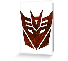 Red Galaxy - Decepticon Greeting Card