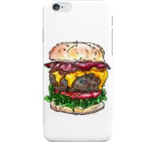 bacon cheeseburger iPhone Case/Skin