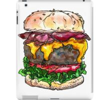 bacon cheeseburger iPad Case/Skin