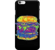 Neon Bacon Cheeseburger iPhone Case/Skin