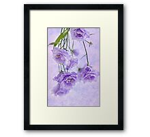 Campanella Blossoms Suspended - Macro Framed Print