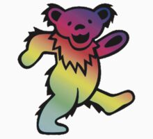 Grateful Dead Dancing Bear Rainbow by Jason Levin