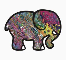 Trippy Elephant by Jason Levin
