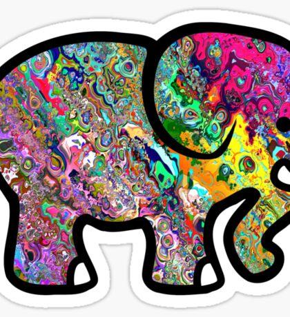 Trippy Elephant Sticker